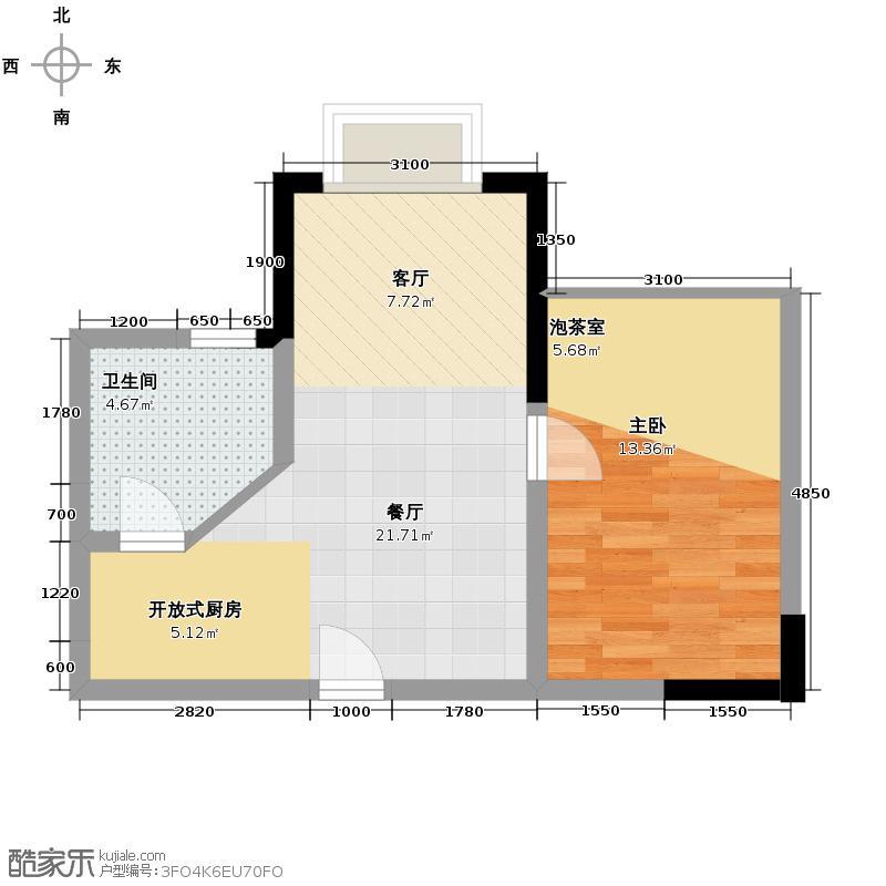 山渐青45.00㎡21#B户型10室