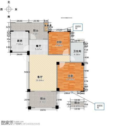 当代安普顿小镇2室2厅1卫0厨88.00㎡户型图