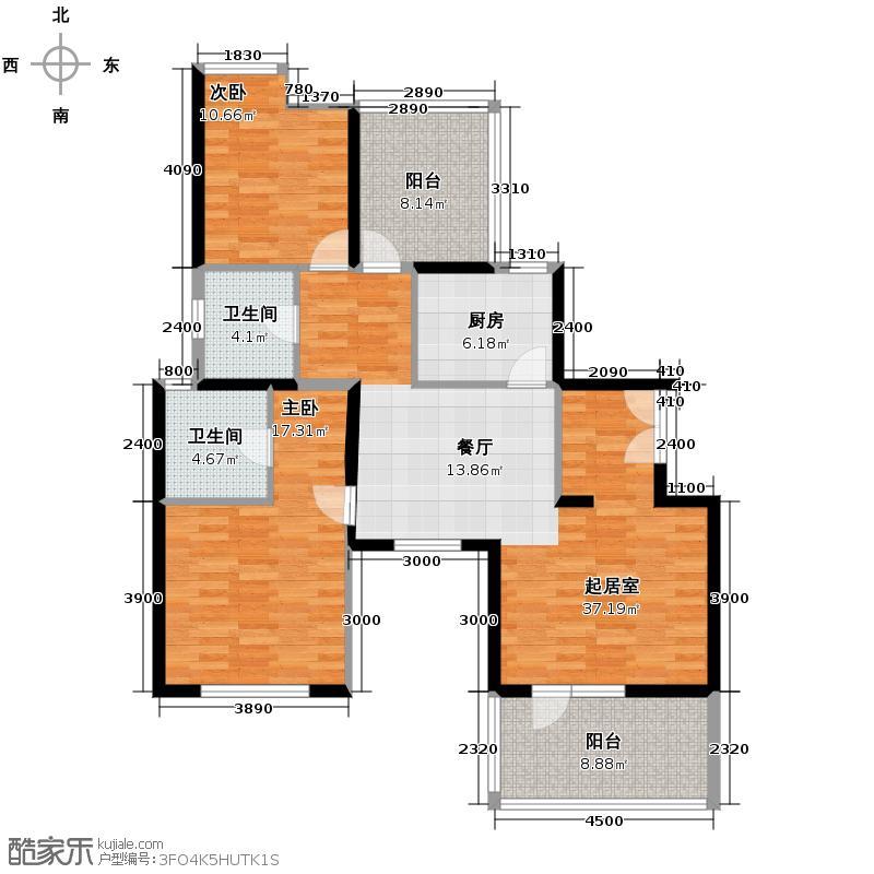 巴登巴登106.44㎡8-12号楼户型2室2厅2卫