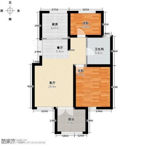 万通生态城新新家园2室2厅1卫0厨93.00㎡户型图