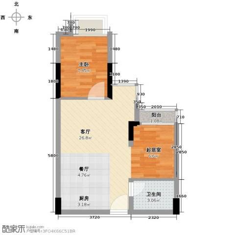 东骏朗晴居1室1厅1卫0厨54.00㎡户型图