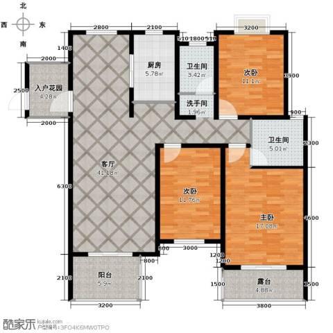 翰林世家3室2厅2卫0厨142.00㎡户型图