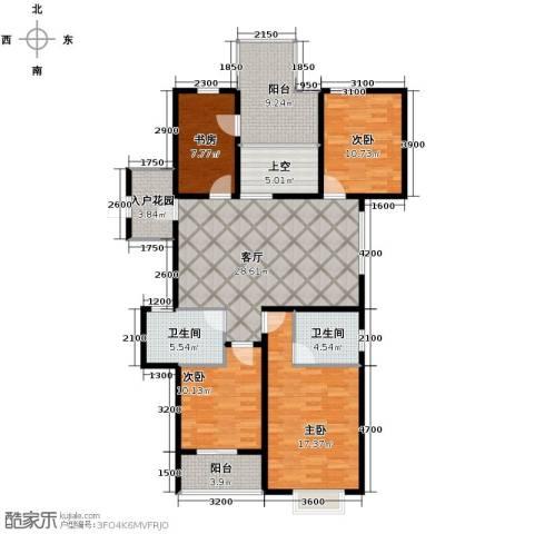 翰林世家3室2厅2卫0厨132.00㎡户型图