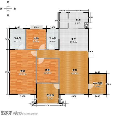 中海寰宇天下3室2厅2卫0厨141.00㎡户型图