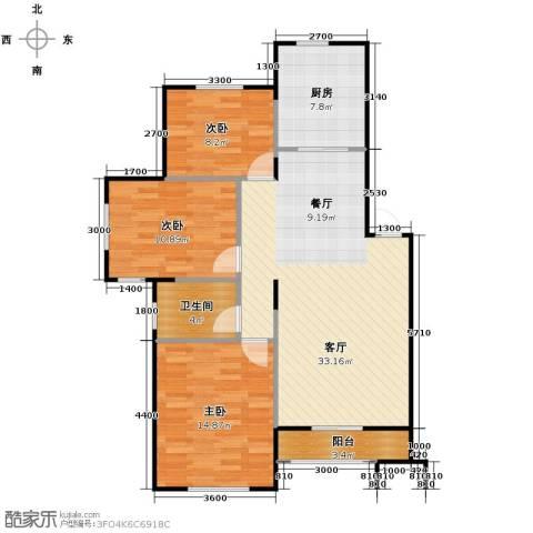 中海寰宇天下3室2厅1卫0厨101.00㎡户型图