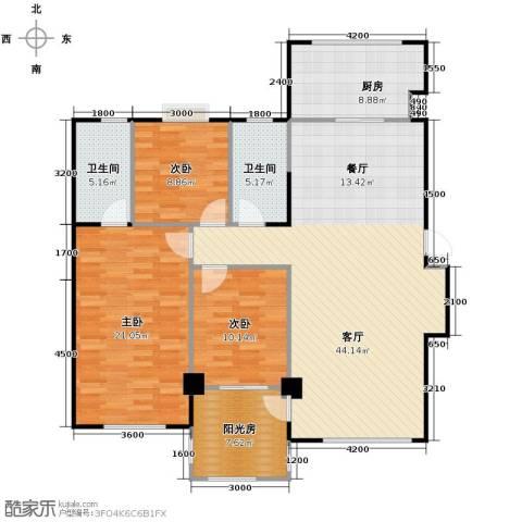 中海寰宇天下3室2厅2卫0厨130.00㎡户型图