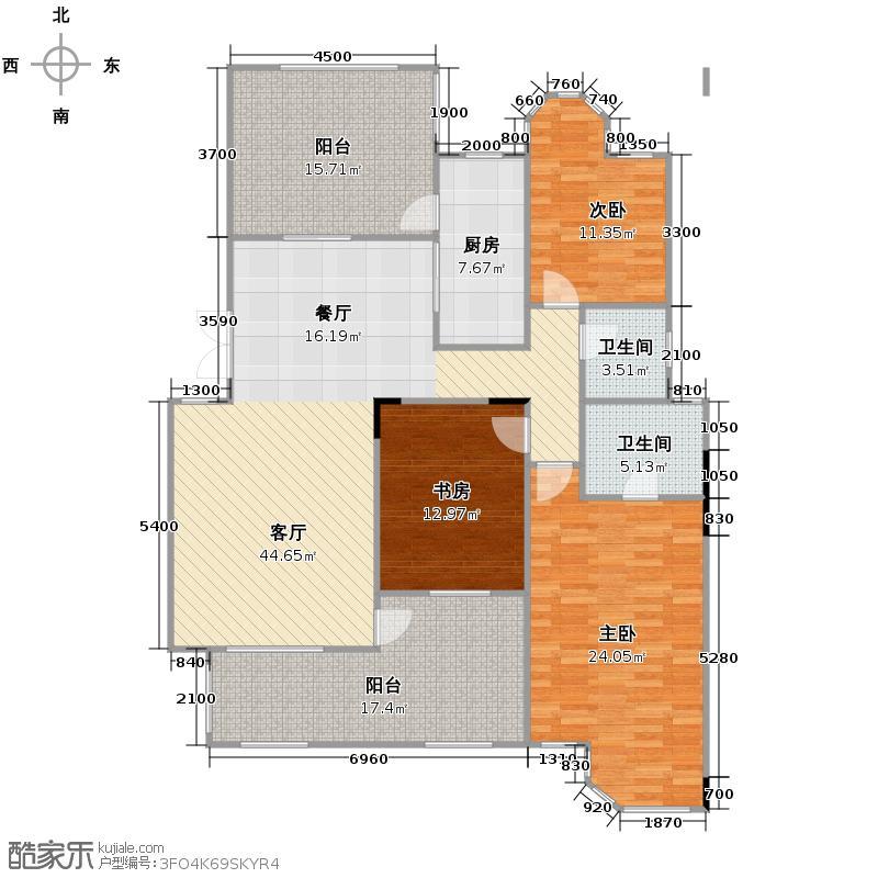 格林英郡151.91㎡35-1-户型3室1厅2卫1厨