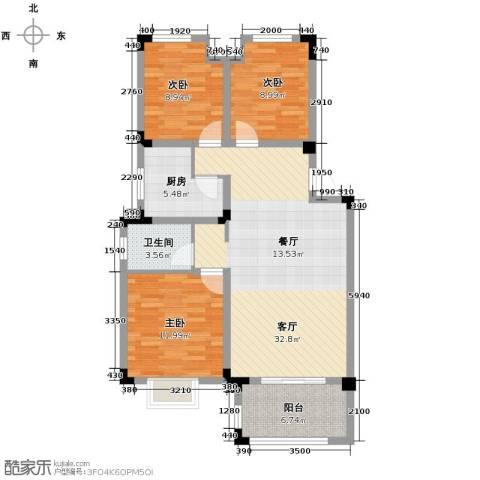 北环阳光花园3室2厅1卫0厨99.00㎡户型图