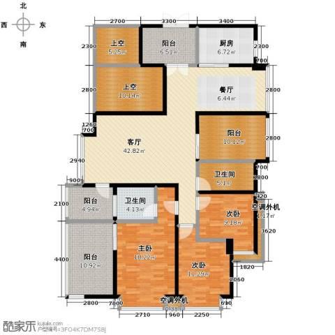益阳御景东方3室2厅2卫0厨147.04㎡户型图