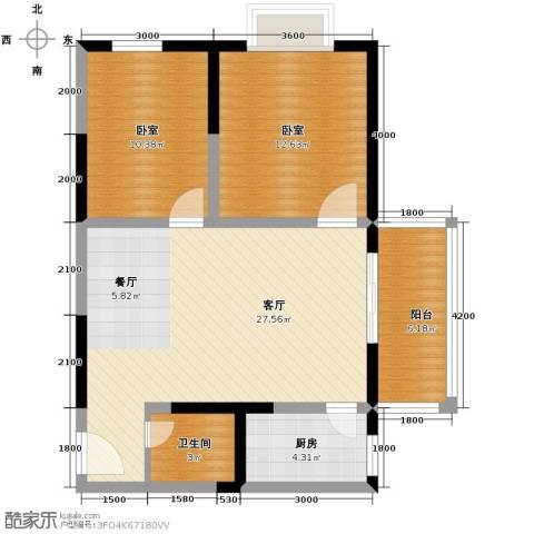 天伦御城龙脉2室2厅1卫0厨88.00㎡户型图