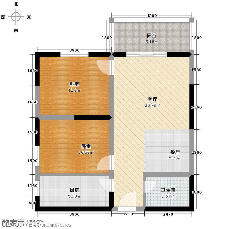 天伦御城龙脉88.24㎡3-12大客间、人性化设计户型10室