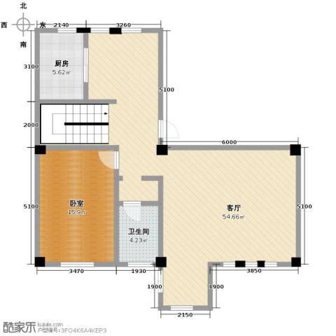 联发滨海琴墅1室2厅1卫0厨99.00㎡户型图