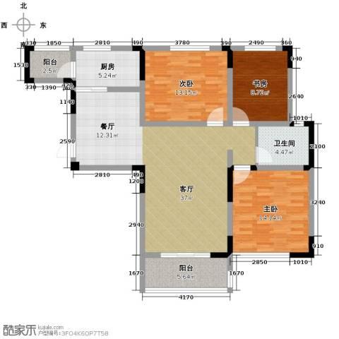 北环阳光花园3室2厅1卫0厨119.00㎡户型图