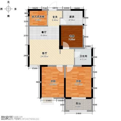金大地英伦联邦3室2厅1卫0厨96.00㎡户型图