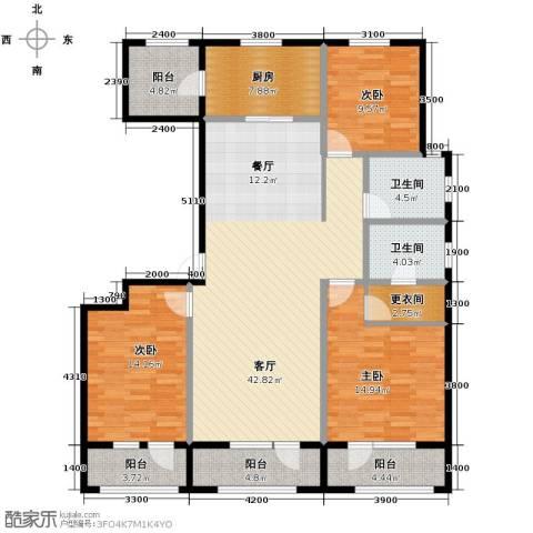 承德未来城3室2厅2卫0厨167.00㎡户型图
