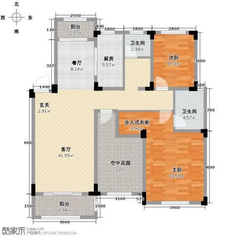 金大地英伦联邦2室2厅2卫0厨113.00㎡户型图