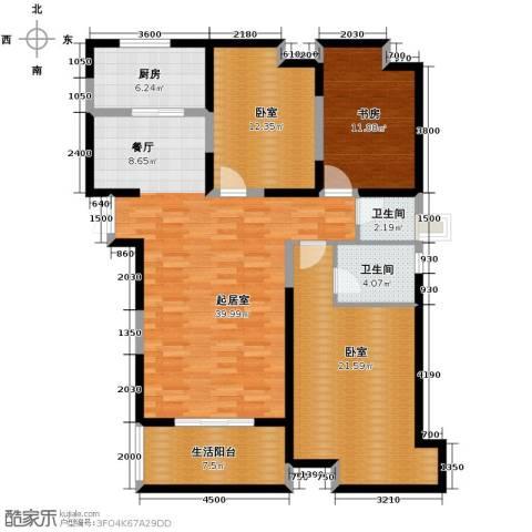 天伦御城龙脉3室2厅1卫0厨143.00㎡户型图