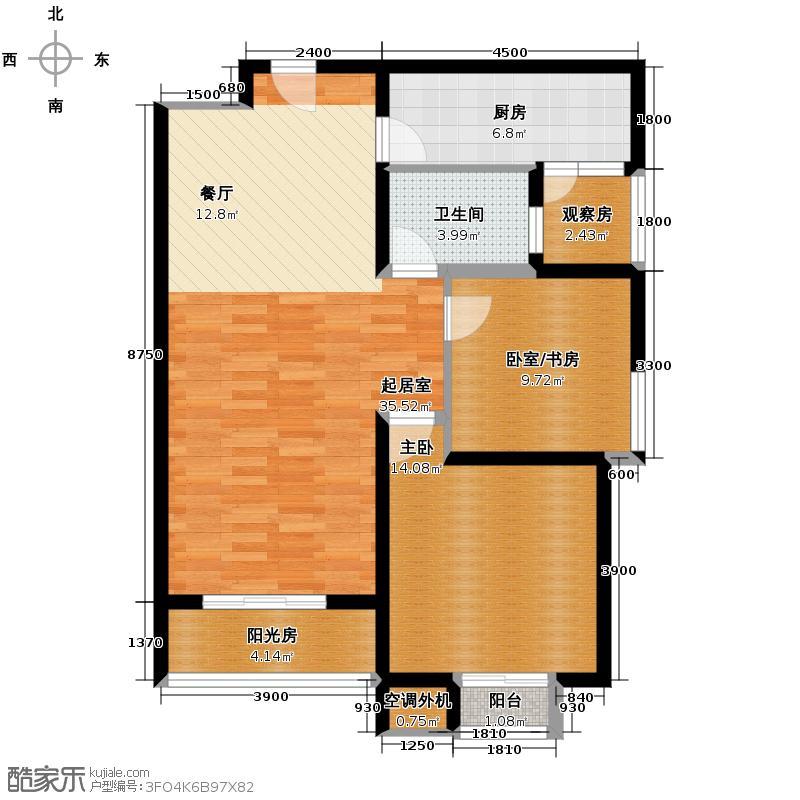 府东公园6栋112.81㎡F3户型2室2厅1卫