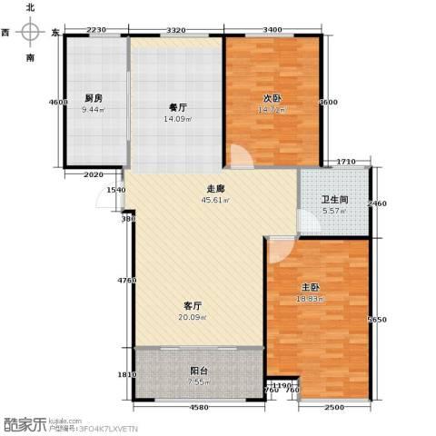 信华・观澜盛世2室2厅1卫0厨106.00㎡户型图