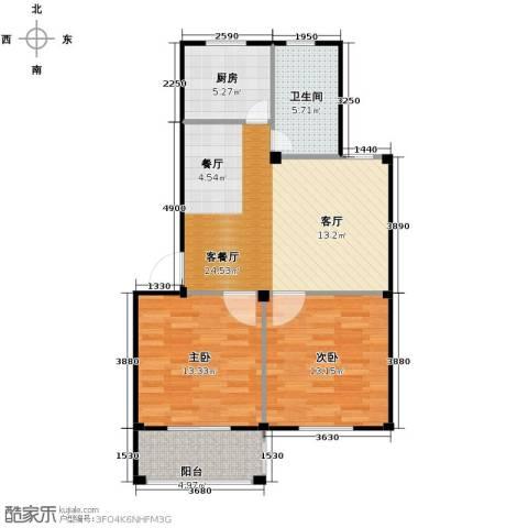 东海明园2室2厅1卫0厨78.00㎡户型图