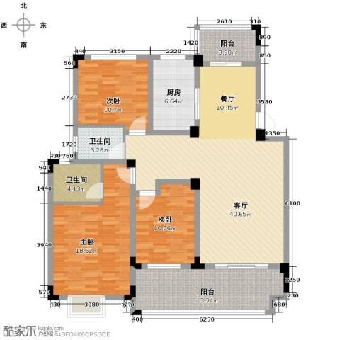 北环阳光花园3室2厅2卫0厨125.00㎡户型图