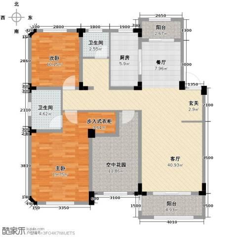 金大地英伦联邦2室2厅2卫0厨115.00㎡户型图