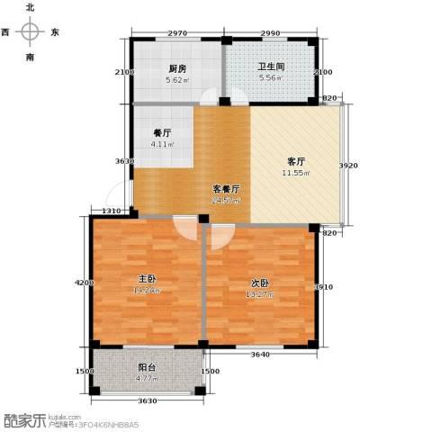 东海明园2室2厅1卫0厨79.00㎡户型图