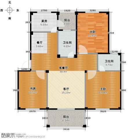 东海明园3室2厅2卫0厨106.00㎡户型图