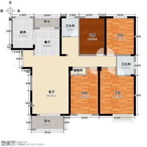 金大地英伦联邦4室2厅2卫0厨160.00㎡户型图