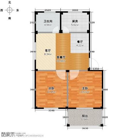 东海明园2室2厅1卫0厨73.00㎡户型图