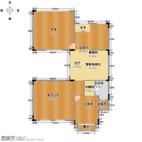 五矿・哈施塔特134.09㎡户型图