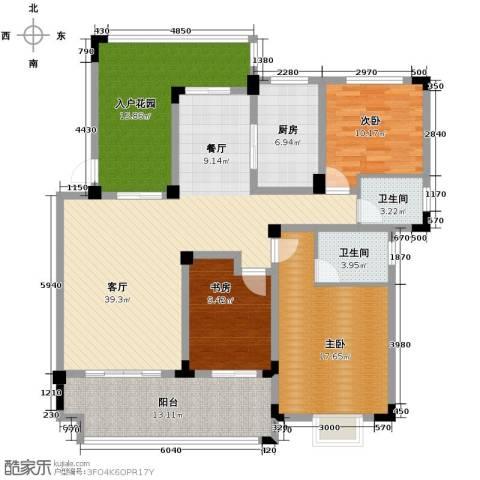 北环阳光花园3室2厅2卫0厨138.00㎡户型图