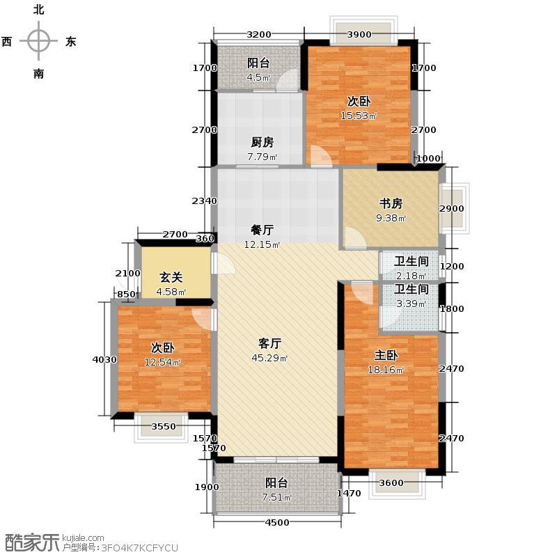 龙达九珑山170.00㎡5栋02户型4室2厅2卫