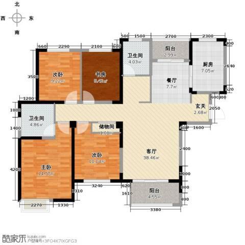 金大地英伦联邦4室2厅2卫0厨140.00㎡户型图
