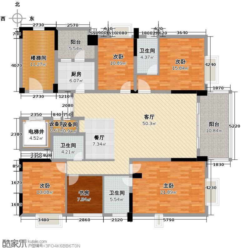 泰然南湖玫瑰湾201.00㎡湾域华宅01户型10室