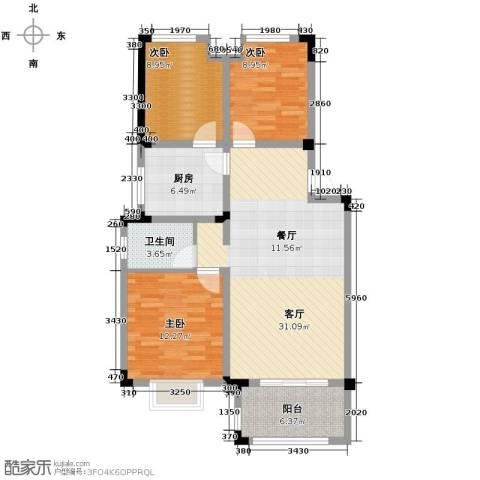 北环阳光花园3室2厅1卫0厨98.00㎡户型图