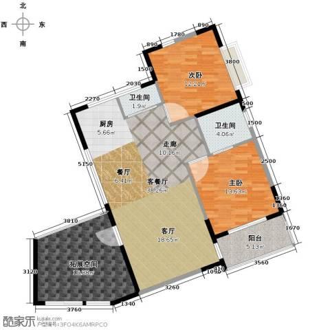 九仰梧桐公寓2室2厅1卫0厨90.59㎡户型图
