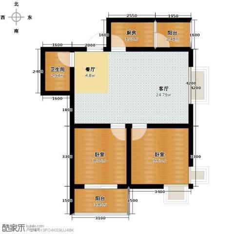 捷瑞新时代1厅1卫1厨83.00㎡户型图