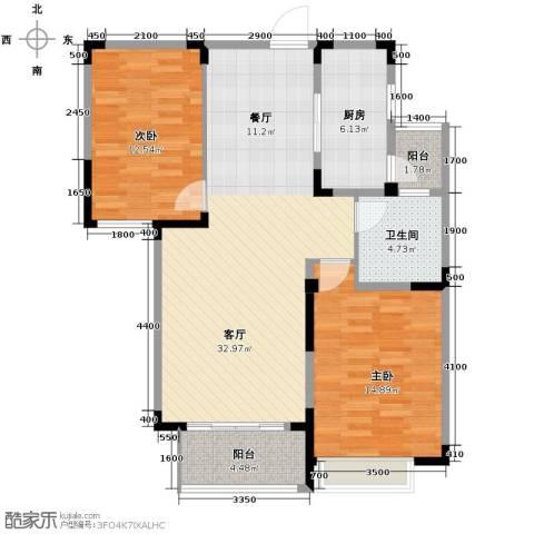 金大地英伦联邦2室2厅1卫0厨100.00㎡户型图