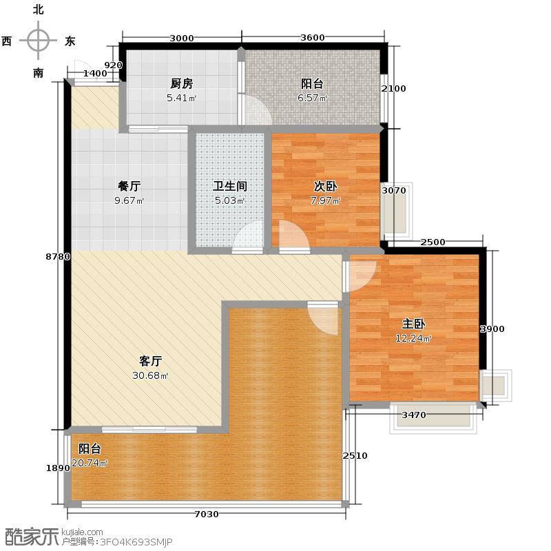 江润地中海岸82.05㎡高层B户型10室