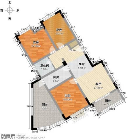北环阳光花园3室2厅1卫0厨110.00㎡户型图