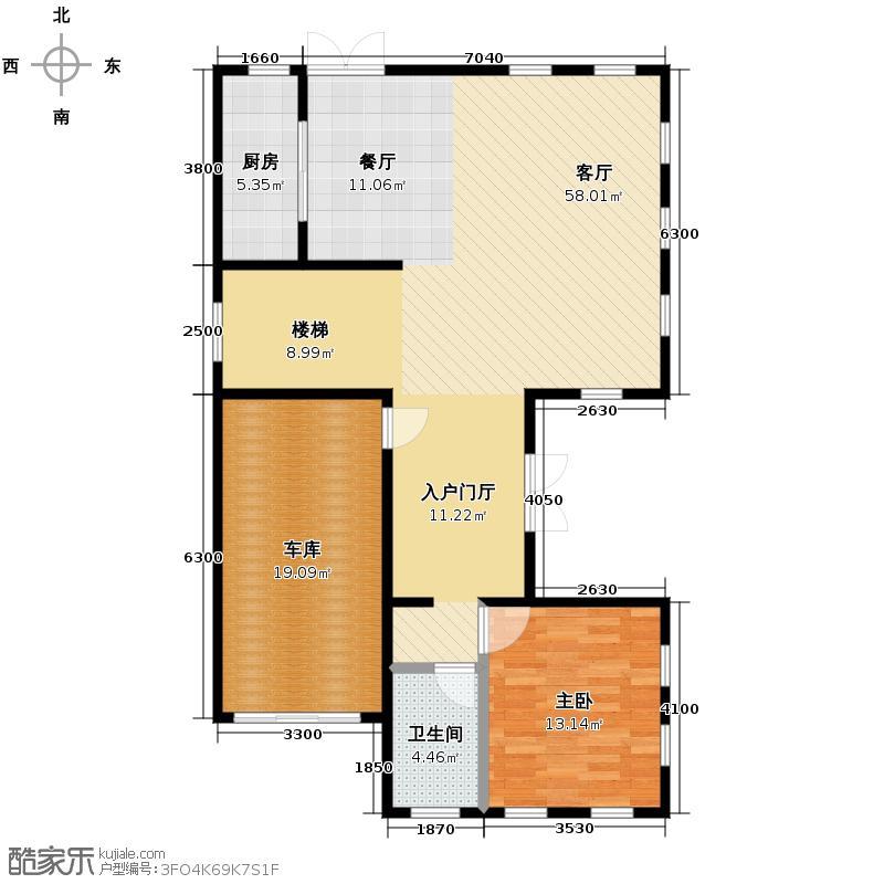 五矿正信林溪地108.96㎡西区C1英式首层户型10室