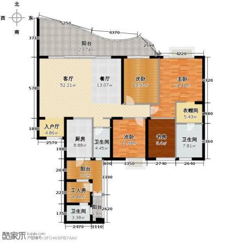 龙湖世纪峰景4室2厅2卫0厨194.05㎡户型图