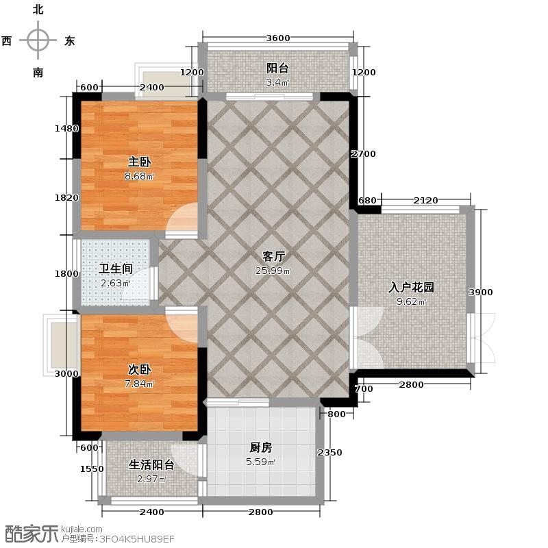 金源利青国青城64.16㎡青国青城3号楼C户型10室