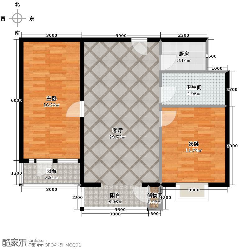 滨海先锋SOHO98.00㎡D户型10室