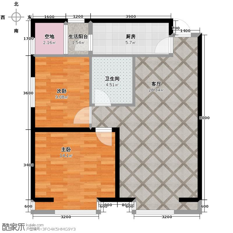 弘泽城89.00㎡20号楼户型10室