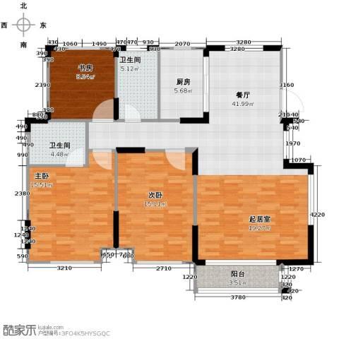 心泊馨城3室2厅2卫0厨122.00㎡户型图