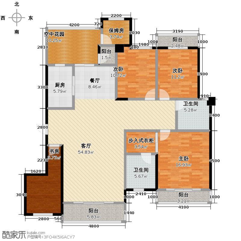 中华名园181.91㎡G型户型4室1厅2卫1厨