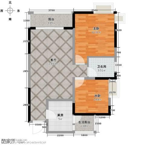大鼎第一时间2室1厅1卫1厨83.00㎡户型图