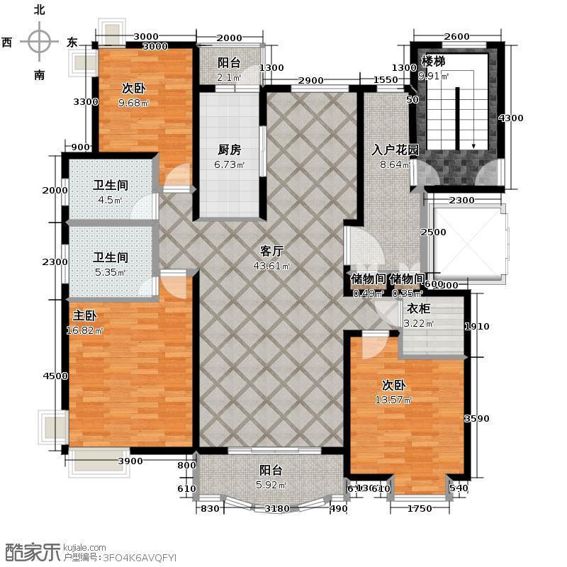 绿地东上海147.67㎡K1户型10室